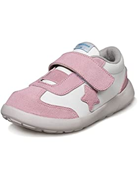 Little Blue Lamb - Zapatos de suela de goma blanda OG niñas | Zapatillas de deporte rosa estrella