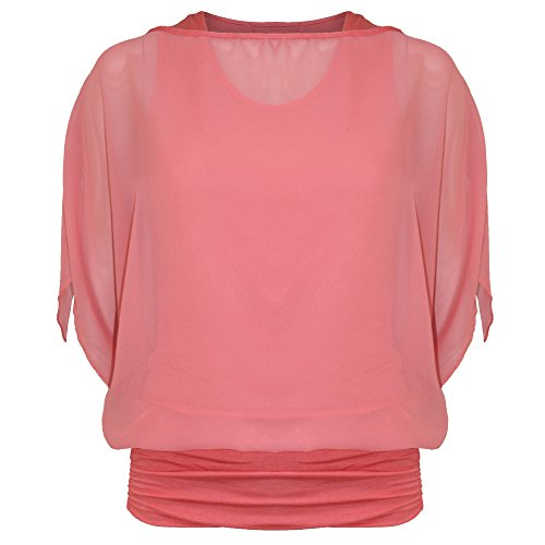 Be Jealous - Canotta -  donna Coral - Loose Casual Two in One