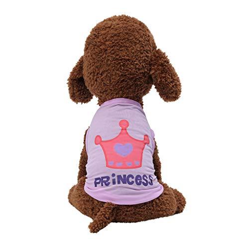 Hawkimin Hunde warme Pullover Pet Frühling und Sommer Breathable Crown Print Weste Hundebekleidung (36 X 24 Hundebox)