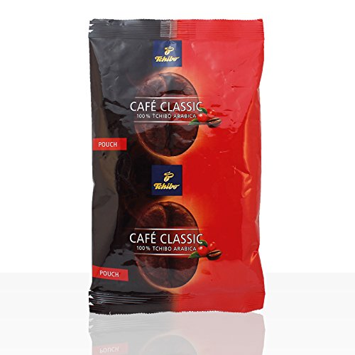 Tchibo Cafe Classic elegant Kaffee Pouch 2 Kart. 36 x 65g Filterbeutel ganze Kanne Café