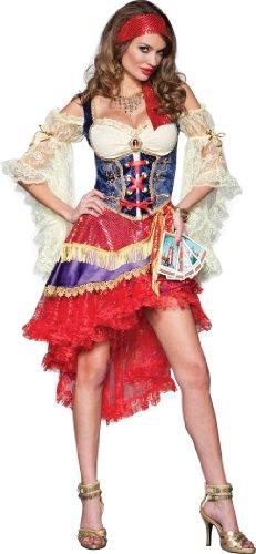 Karneval Tänzerinnen Kostüm - Wahrsagerin- Good Fortune- Kostüm Damen Gr. S
