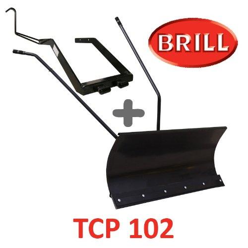Lame à Neige 118 cm Noire + adaptateur pour BRILL TCP 102