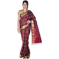 Rajarams Check Pattern Pure Handloom Kanjeevaram Silk