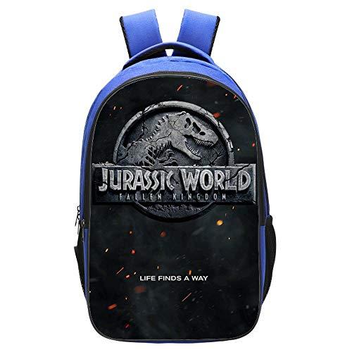 ZYY Backpack Mochila Escolar 3D Niños Jurassic World