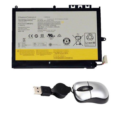 amsahr L13M2P22-05 Ersatz Batterie für Lenovo MIIX2 10 INCH, 10-ZTH, 1ICP4/83/103-2, L13N2P21 (Umfassen Mini Optische Maus), 3.7V, 6760 mAh/25 Wh, 2 Cell schwarz