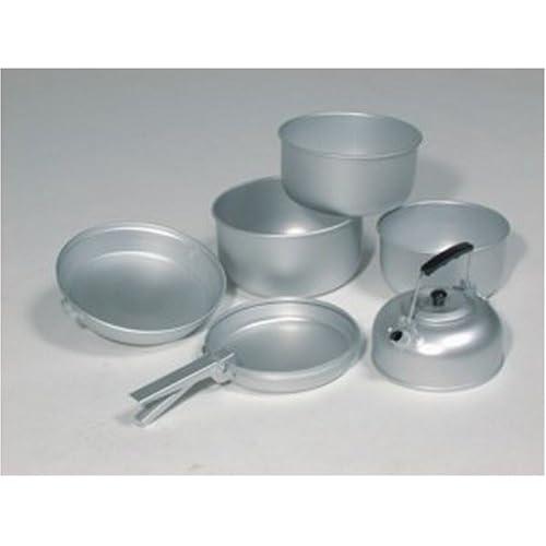 417d17LsyRL. SS500  - Mil-Tec Aluminium 3Pots Pan Pot Cooking Set–Silver 20.5x 10.5cm/19x 8.5cm/17x 8.5cm