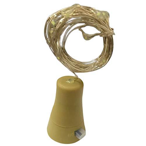 Clode® 1M x 10 LED Solar Cork Weinflaschenverschluss Kupferdraht Lichterketten Fairy Lampen (PP)
