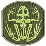 PVC hizo rana rana esqueleto esqueleto parche de velcro [fundacioen: verde / patroen: verde]