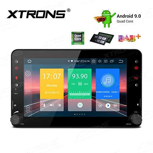 XTRONS Android 9.0 7 Pulgadas Coche estéreo 4 núcleos GPS navegación Auto Radio BT5 Unidad de Cabeza para Alfa Romeo 159 Bera Soporte Plug and Play WiFi DVR MirrorLink