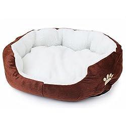 LAAT Cama para mascotas Cama de perro Cama de dormir para gatos Cama de perro de forma redonda