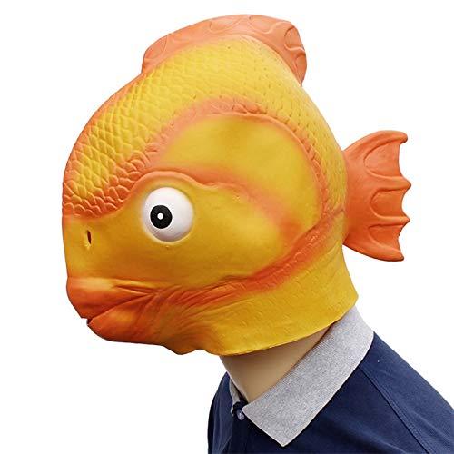 Fisch Kopf Kostüm - VAWAA Lustige Goldfisch Latex Maske Fisch Kopf Maske Halloween Cosplay Kostüm Prop Festival Party Liefert Neue Requisiten Maske