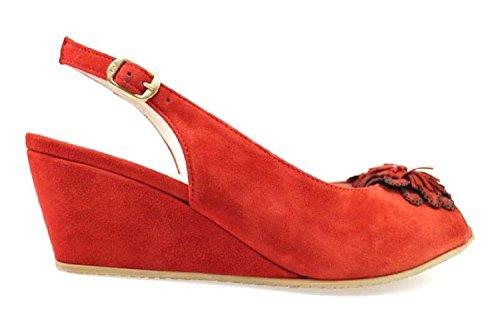 scarpe donna MUSELLA sandali rosso camoscio AP944 (39 EU)
