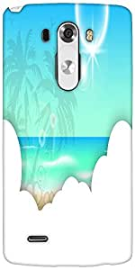 Snoogg Abstract Summer Background Designer Protective Back Case Cover For LG G3