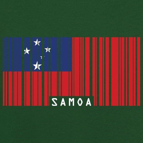 Samoa / Unabhängiger Staat Samoa Barcode Flagge - Herren T-Shirt - 13 Farben Flaschengrün