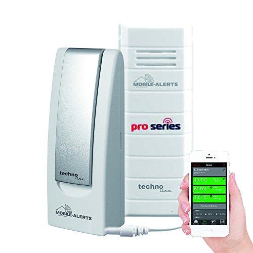 Technoline Control de Temperatura en su Frigorífico, congelador, Sensor mA 10120Pro Series con Gateway, moobile Alerts, 3.2x 1.7x 8.7cm