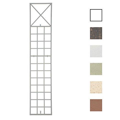 Clp graticcio per piante rampicanti trigo in ferro | graticolato per piante 198 x 40 cm |traliccio per rampicanti da fissare alla parete | griglia per piante rampicanti da giardino bianco