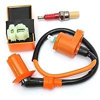 Moto Accesorios y componentes, Race CDI Box 6 Pines Ignition Coil + Vela para GY6