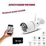ChallengE-Outdoor Caméra de Surveilance WiFi,Carte de Caméra 64G TF de Mouvement de Vision Nocturne ExtéRieure/D'IntéRieur de HD 720P WiFi de Surveillance à La Maison de Surveillance IR de SéCurité