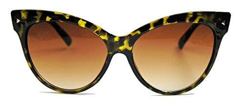 50er 60er Jahre Damen Retro Sonnenbrille Cat Eye Katzenaugen Fashion Brille SR (Demi Tortoise)