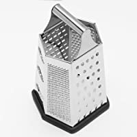 Cook's Corner 9 Stainless Steel Hex Grater W/ Non-Skid Base