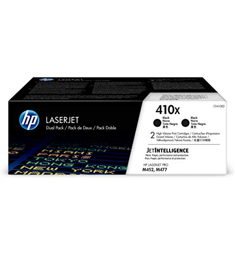 HP 410X (CF410XD) Multipack Original Toner (2x Schwarz) mit hoher Reichweite für HP Color Laserjet Pro M452, HP Color Laserjet Pro M477 (Hp Color Laserjet Black Toner)