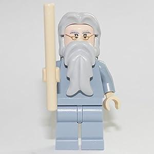 LEGO Harry Potter Minifigur Professor Albus Dumbledore Custom with magic staff 24