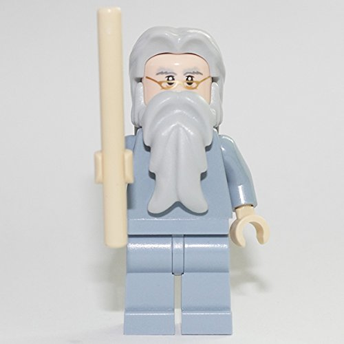 LEGO Harry Potter Minifigur Professor Albus Dumbledore Custom with magic staff