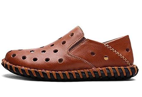 Beauqueen Crocs pour hommes Léger Conduite Cuirs décontractés Tige de