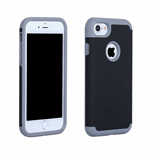 BoxTii®, custodia iPhone 7 [con protezione schermo in vetro temprato inclusa], in morbido TPU + cover rigida in policarbonato, anti-graffio e assorbimento degli urti 2in 1, custodia protettiva poster #3 Black