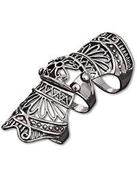 etNox - Ring ''Armour Finger'' Edelstahl