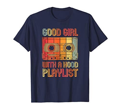 Mädchen Kostüm Musiker -  Jahre 90er Jahre Mädchen Musik Vintage Kostüm Party T-Shirt