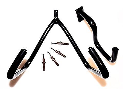 Electric, Acoustic, Bass Horizontal Guitar Wall Hangers & Ukulele Wall Hanger (RS 5 inch Horizontal Acoustic Guitar Hanger)