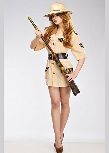 Magic Box Int. Erwachsener Frauen Safari Explorer Dame Costume Medium (UK ()