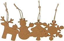 doutop 100pcs Etiqueta Papel de Estraza rectangular/Biscuit Forma Etiquetas de colgar con 10m de cuerda de yute para manualidades regalos y precio etiquetas boda Tarjetas de etiqueta