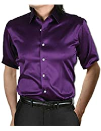 BUSIM-Men Long Sleeve Shirt Fashion Summer Casual Dress Shirt Short Sleeve Casual Wear Short Sleeve Fitness Party...
