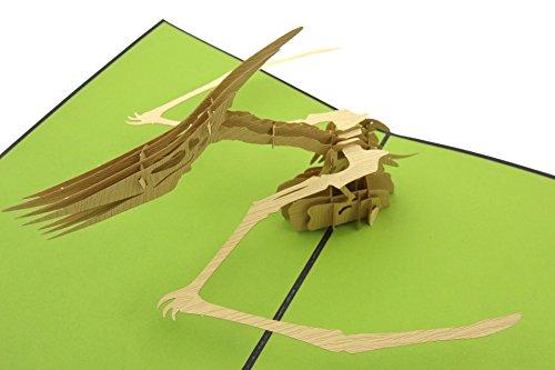 PopLife Greeting Cards Dinosaurier pteranodon 3d Grußkarte Pop-up - alle Gelegenheiten (Männer Pop Art Kostüm)