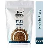 True Elements Raw Flax Seeds 500gm