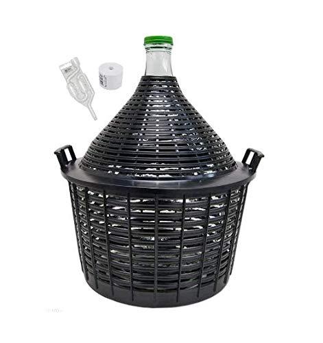 Un globo de cristal de alta calidad. Está destinado a la fermentación de vinos, animales, harina y tintes. La carcasa de plástico extraíble te permite lavar el globo a fondo y al mismo tiempo proteger el cristal de roturas. El vidrio de los globos...