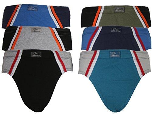 6er Pack Slips Unterhosen 100% Baumwolle Modell 570 Gr. L (Pack Slips 6)