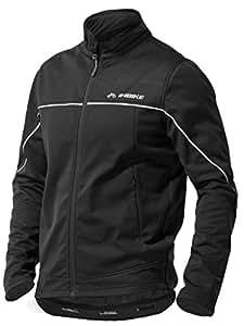 INBIKE Veste Cyclisme pour VTT Velo Homme Hiver Vestes Thermique Imperméable Coupe-Vent Sportwear(Noir&Argent,S)
