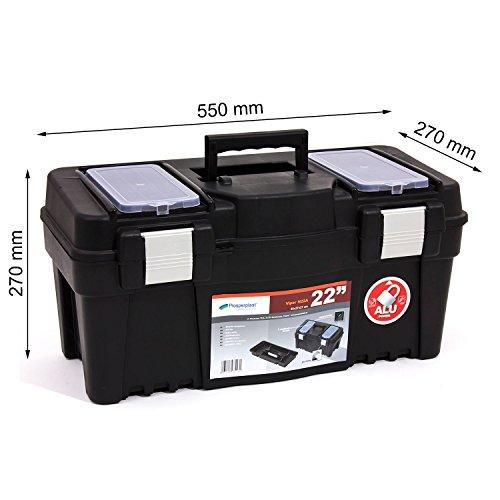 Werkzeugkoffer Werkzeug Werkzeugbox Heimwerker Metall Viper 22″ 550x267x270 mm - 2