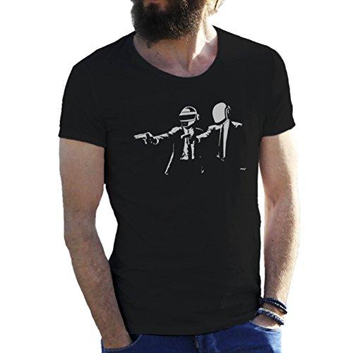 Daft Punk Rap Electro Group T-shirt maglietta per uomo Nero