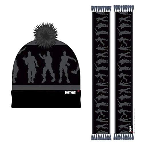 Fortnite Conjunto 2 Piezas Calentadores, Negro (Negro C02), One Size (Tamaño del fabricante:One size) para Niños