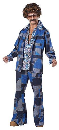JADEO Disco-Fieber Kostüm für Herren S - Leisure Suit Kostüm