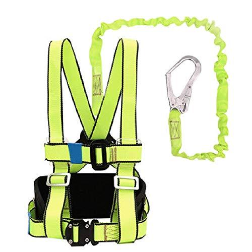 HWTZ Cantiere di Protezione anticaduta all'Aria Aperta Cintura Lavoro Aereo Installazione di Aria condizionata, Arrampicata Sicurezza Corda Completo Corpo Vestito.
