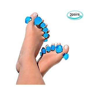 WGE Gel Toe Separatoren & Zehenspreizer (2 Paar), Toe Spacer, Toe Stretcher Für Tänzer, Yogis & Athleten.