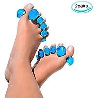 WGE Gel Toe Separatoren & Zehenspreizer (2 Paar), Toe Spacer, Toe Stretcher Für Tänzer, Yogis & Athleten,M preisvergleich bei billige-tabletten.eu