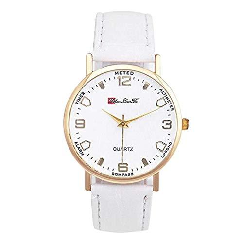 Fittingran vigilanza del quarzo degli uomini sull'orologio di cuoio economico degli uomini dell'orologio casuale di affari analogici di vendita di vendita (bianca)