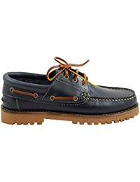 Svens-Schuh-Shop - Zapatos Náuticos para Mujer y Hombre, Azul (42)