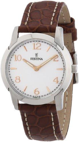 Festina Damen-Armbanduhr XS Klassik Analog Quarz Leder F16507/3